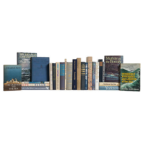 Atlantic Waves Nautical Book Collection