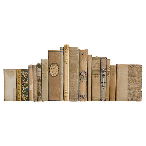 Weathered Antique Neutral Book Set