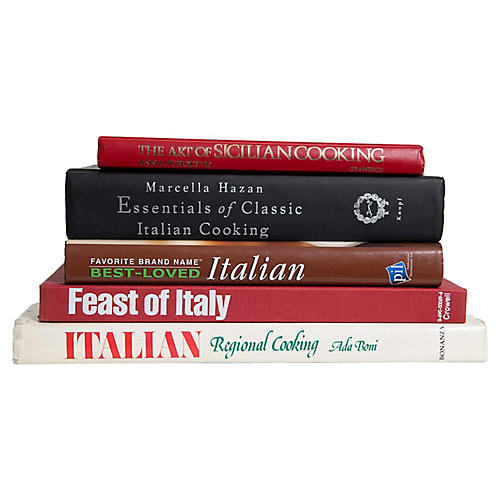 Taste of Little Italy Cook Book Set, S/5