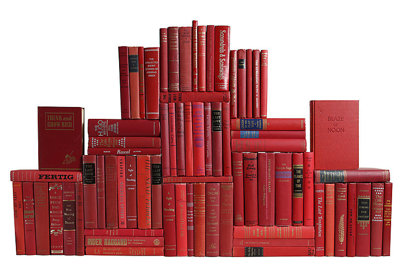 Midcentury Orchard Book Wall, S/75