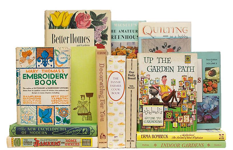 Vintage Pastel Home & Garden Book Set