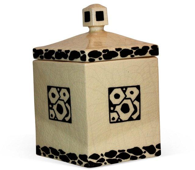 Jacques Adnet Ceramic Box, C. 1950
