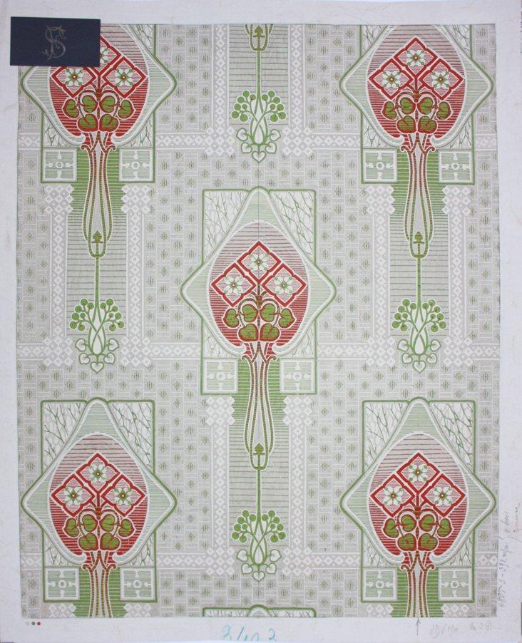 Art Nouveau Textiles Prototype, 1900
