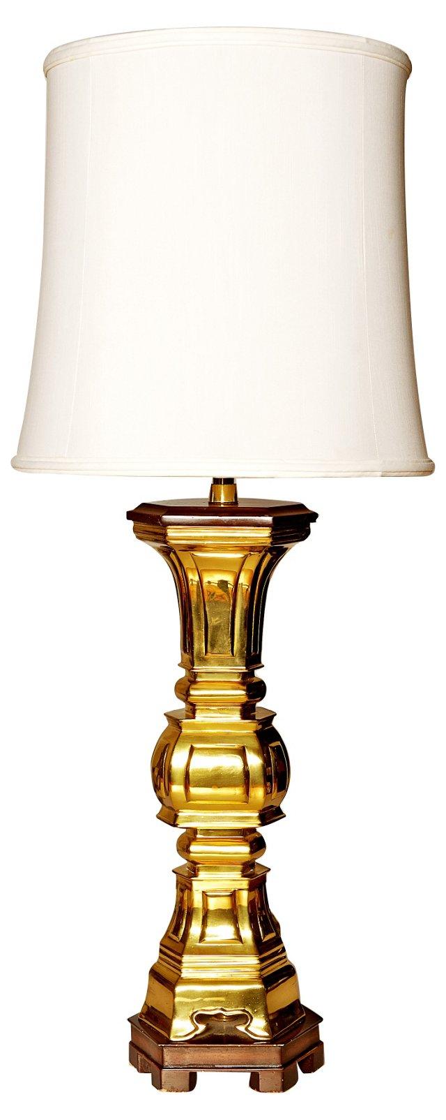 Italian Brass Lamp by Marbro