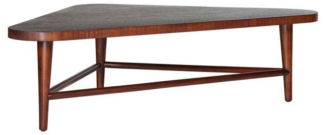 1960s Triangular Mahogany  Table