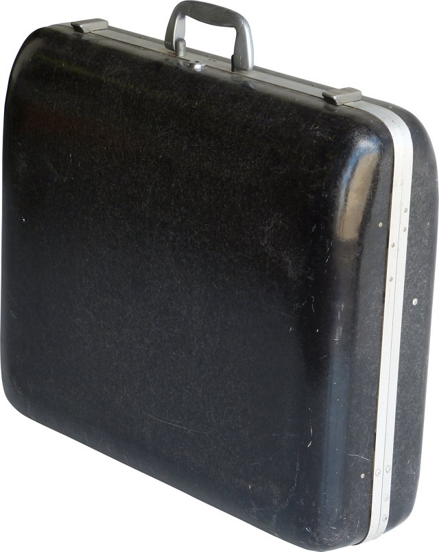 Charcoal Gray Fiberglass Suitcase