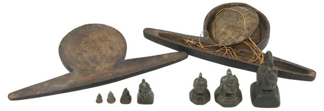 Opium Weights, Scale & Container, S/7