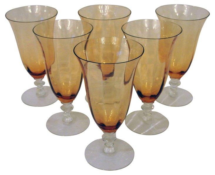 Amber Glasses, Set of 6