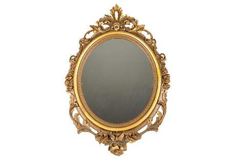 19th-C. Gold Gesso Mirror