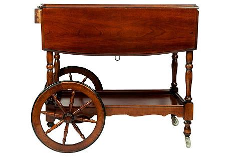 Cherrywood  Bar  Cart, C. 1945