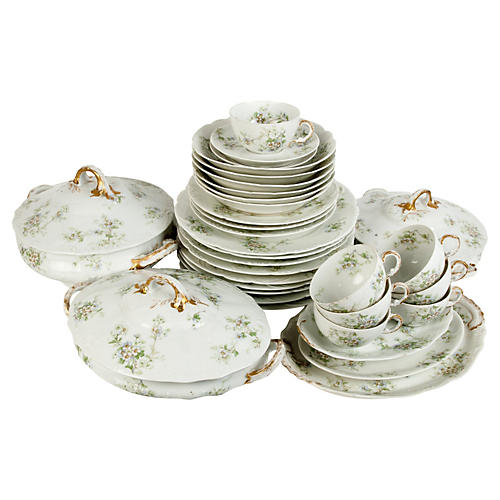 Antique Haviland Limoges, Svc. for 6