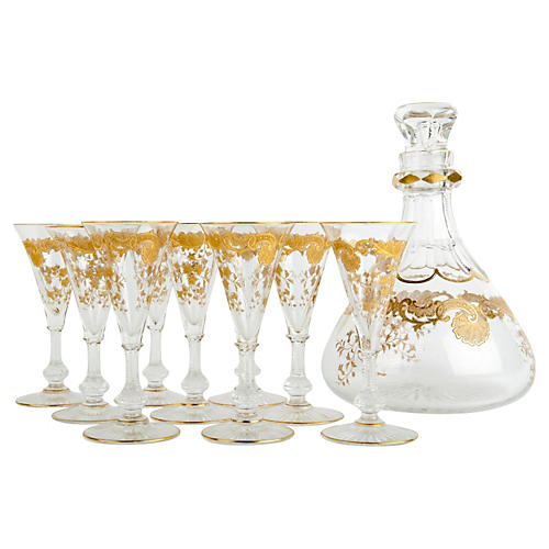 Antique Saint Louis Decanter Set