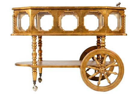 Gilded Bar Cart
