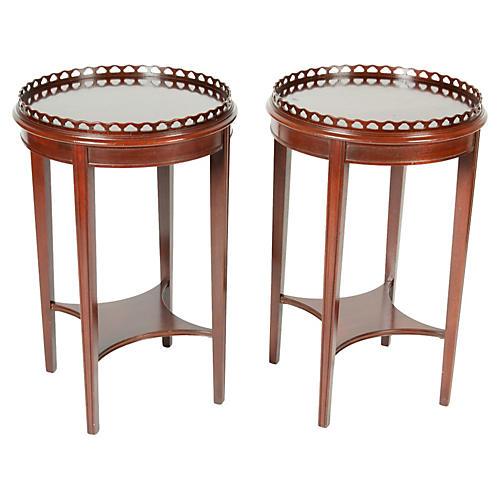 Mahogany Side Tables, S/2