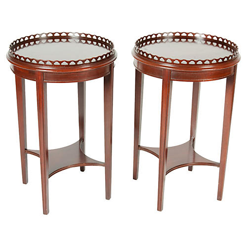 Mahogany Side Tables, S/2