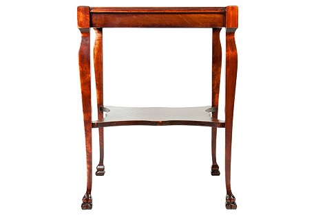 Antique Mahogany Square Table