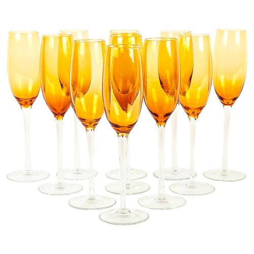 Champagne Flutes, S/10