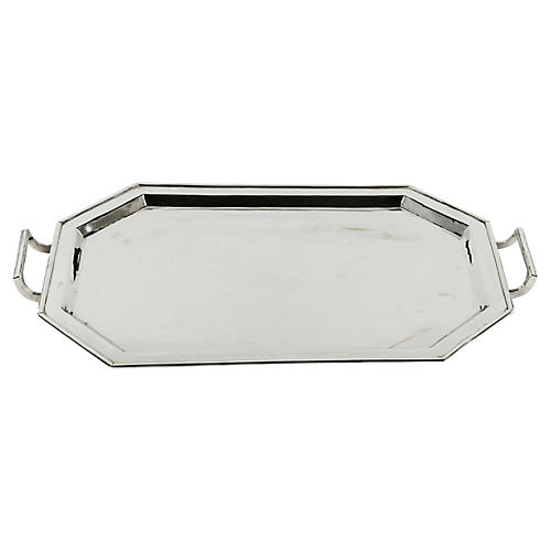 Midcentury Plated Tray
