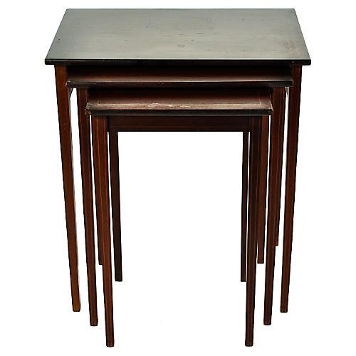 Mahogany Nesting Tables, S/3