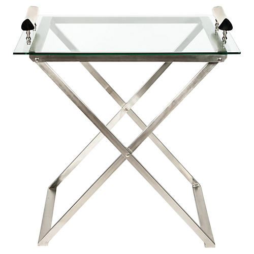 Mid-Century Modern Foldable Bar Cart