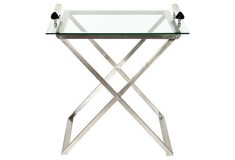 Mid-Century Modern Foldable Bar Cart