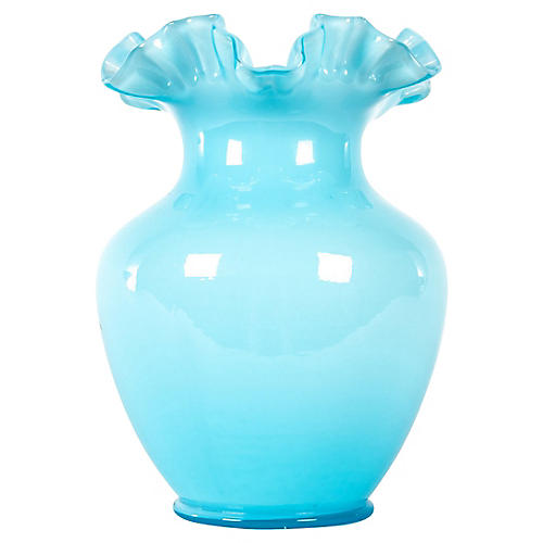 Opalescent Deco Vase