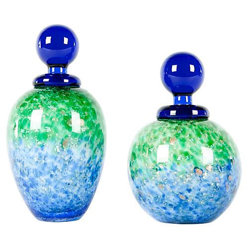 Midcentury Murano Glass Perfume Bottles