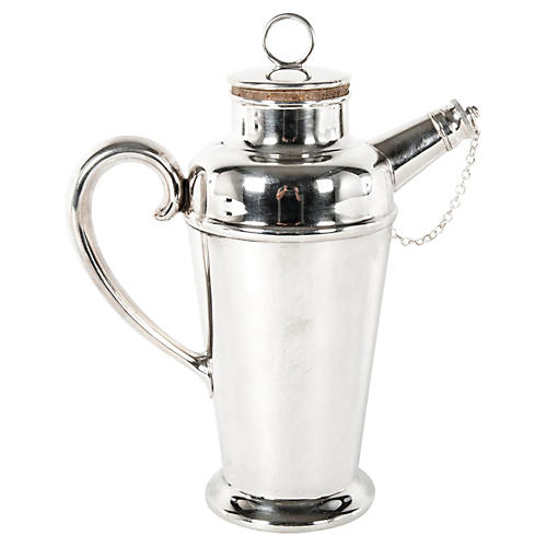 English Silver-Plated Cocktail Shaker