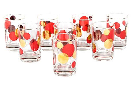 Midcentury Juice Glasses, S/8