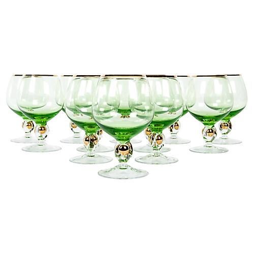 Crystal Cognac/Snifter Glasses, S/12