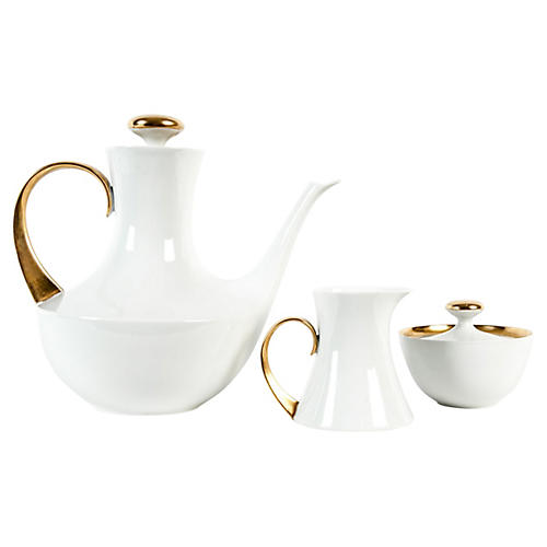 Midcentury Tea & Coffee Set, 3 Pcs