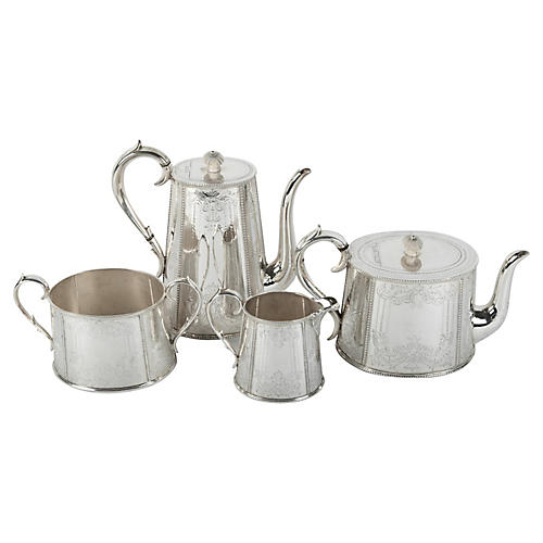 English Tea & Coffee Set, 4 Pcs
