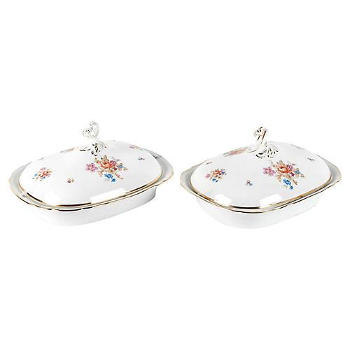 English Porcelain Tureens, S/2