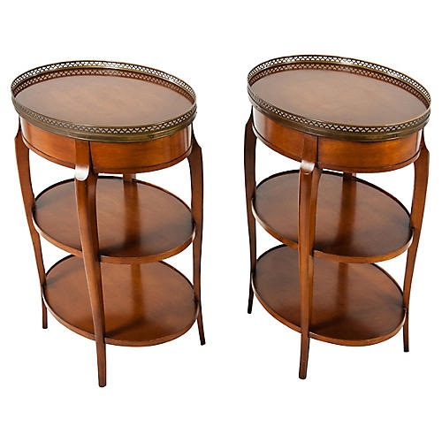 Gallery-Top Side Tables, Pair