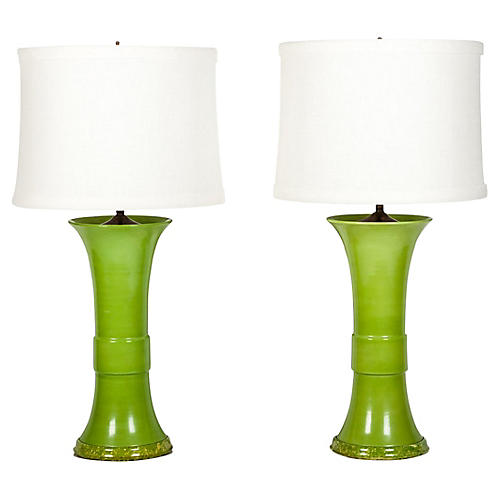 Porcelain Task Lamps, S/2