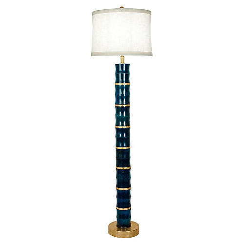 Heavy Jade Art Deco Style Floor lamp .