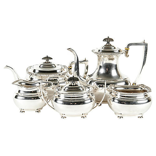 Antique Tea & Coffee Set, 5-Pcs