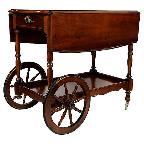 Mahogany Bar Cart