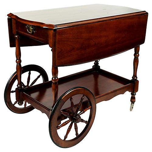 Mahogany Bar Cart