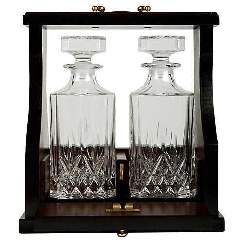Crystal Decanter Set, 3 Pcs