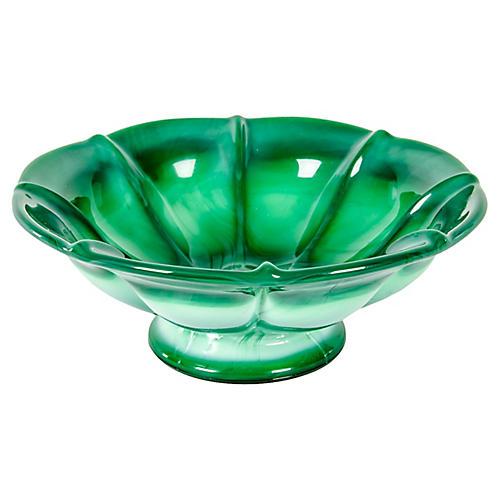 Green Art Glass Bowl