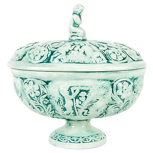 Antique French Porcelain Lidded Dish