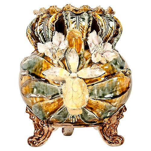 Antique English Porcelain Footed Vase