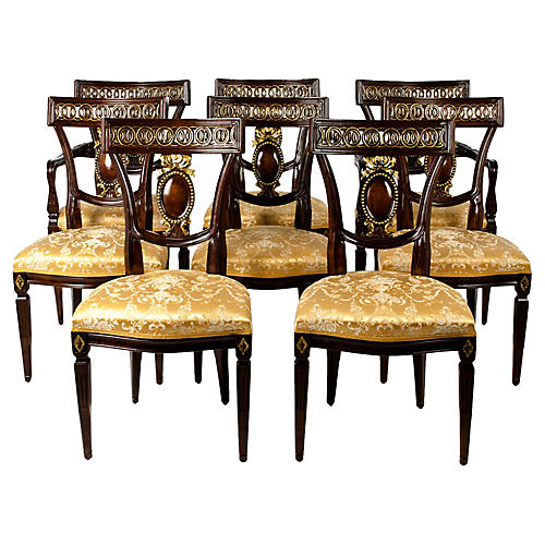 European Dining Chairs, S/8