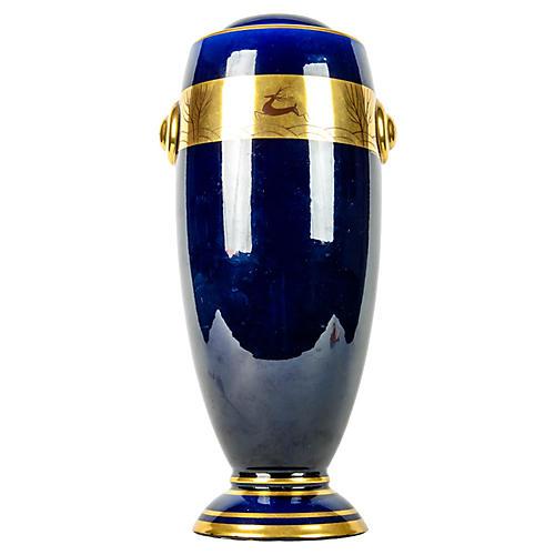 Cobalt/Gold French Vase