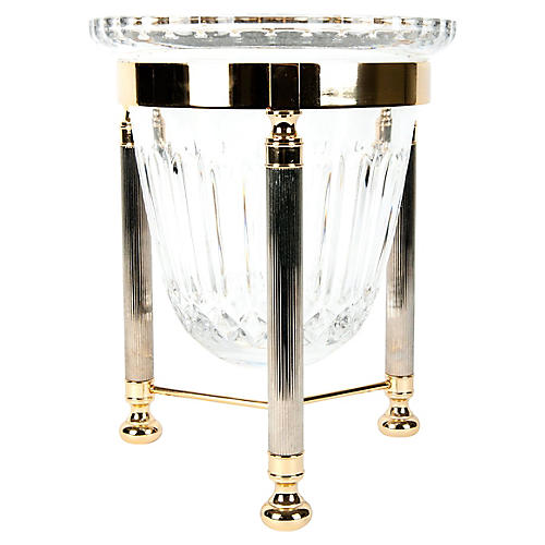 Crystal Ice Bucket w/ Stand