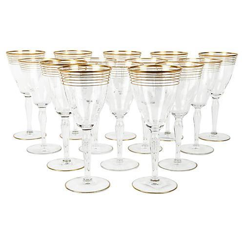 Crystal Wineglasses, S/14