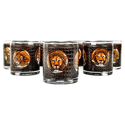 Safari Lowball Glasses, S/8