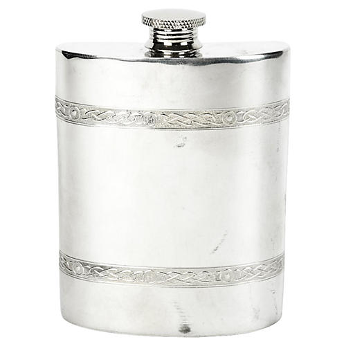 Silver-Plate Flask