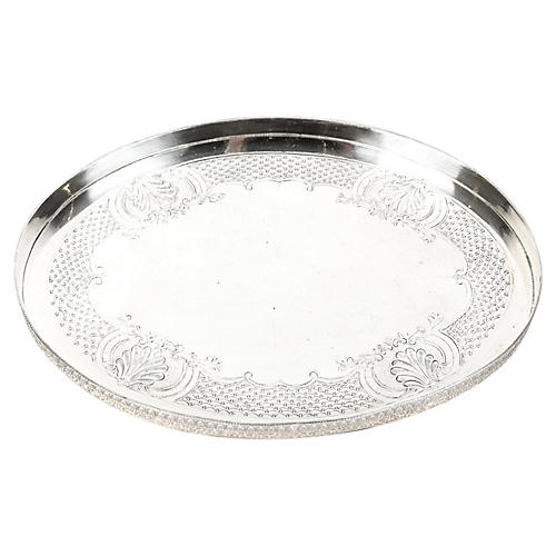 Oval Sheffield Silver-Plate Tray